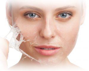 процесс эксфолиации кожи лица