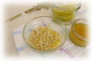 ингридиенты пилинга с овсянкой и лимоном
