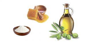 сода, мед и оливковое масло