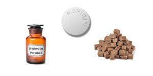 аспирин, глицерин и сахар