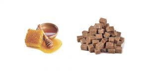 мед и тростниковый сахар