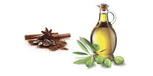 молотый кофе и оливковое масло