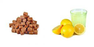 коричневый сахар и лимонный сок