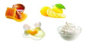 мед, яйцо, лимон и йогурт