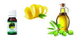 цедра лимона, оливковое масло, эфирное масло лимона