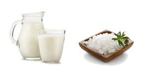 морская соль и молоко