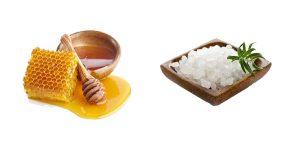морская соль и мед