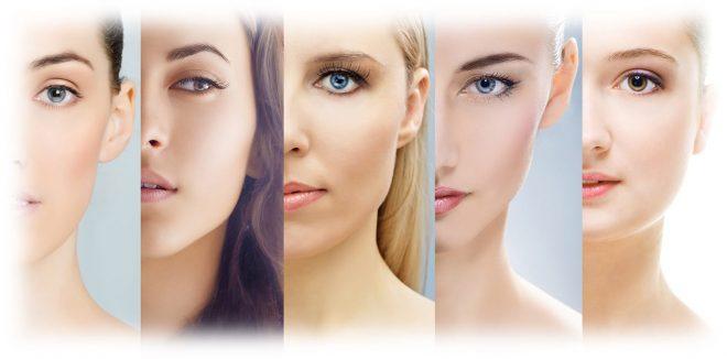 разные типы кожи у женщин