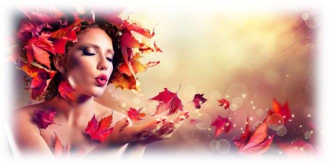 девушка осень