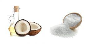 морская соль и кокосовое масло