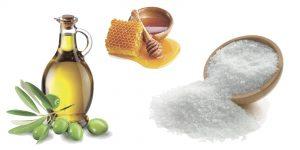оливковое масло, мед и морская соль