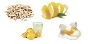 овсянка, цедра лимона, лимонный соки яйцо