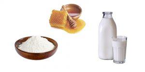 крахмал, мед и молоко