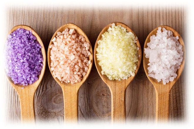 виды соли для процедуры