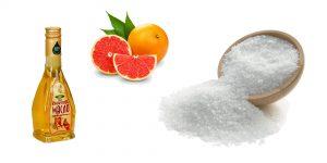 кунжутное масло, морская соль и грейпфрукт