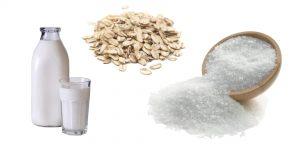 молоко, овсянка и соль