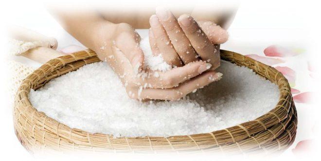 выбор соли для пилинга