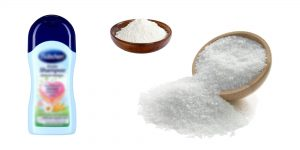 шампунь, сода, морская соль