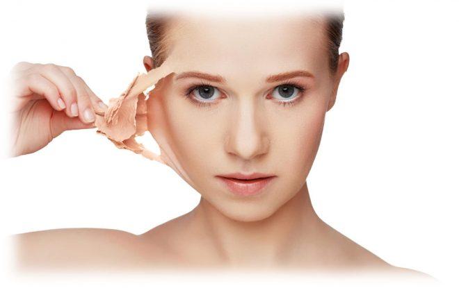 действие химических пилингов на коже