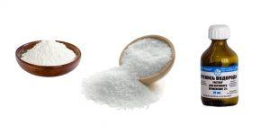 сода, соль и переуись водорода