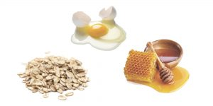 овсянка, яйцо и мед