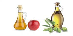 яблочный уксус и оливковое масло
