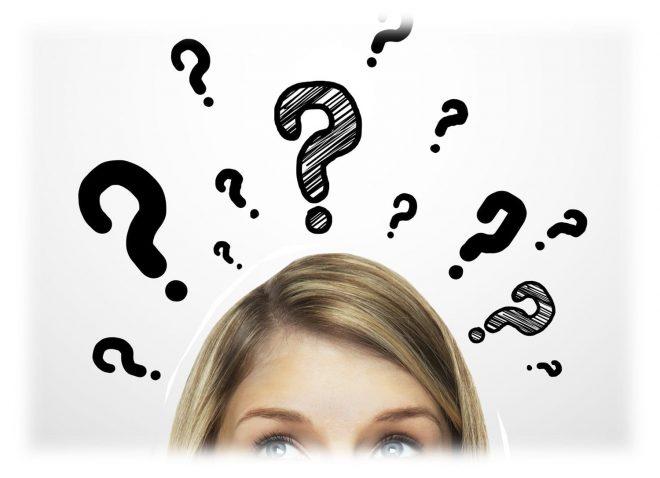 вопросительные знаки над головой