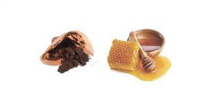 кофейная гуща и мед