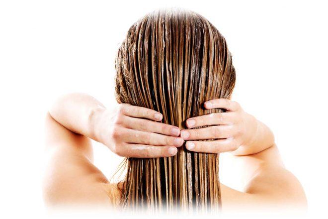 мокрые волосы, чистка