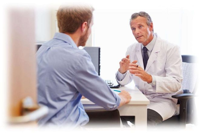 пациент на консультации у доктора